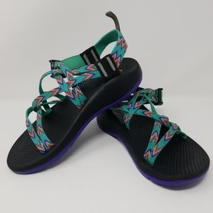 Chaco zx/1 sandals kids Juniors size 3 aqua purple